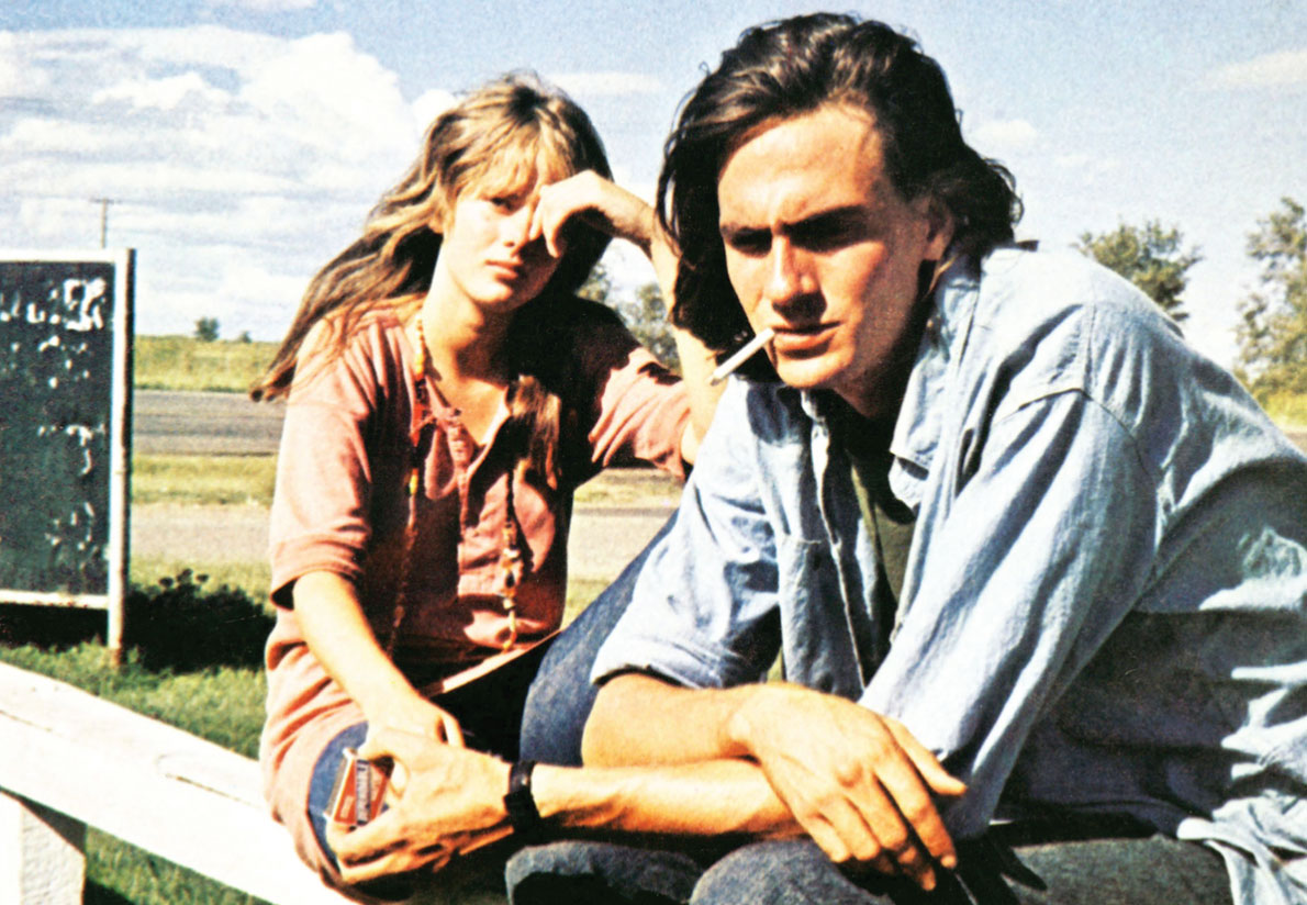 Two Lane Blacktop        Laurie Bird and James Taylor  photo courtesy Everett Collection  Vice